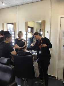 Level 2 Beauty students took part in a MAC Make Up Lesson delivered by talented beauty therapist, MAC make up artist and beauty trainer Abbie Rowley.