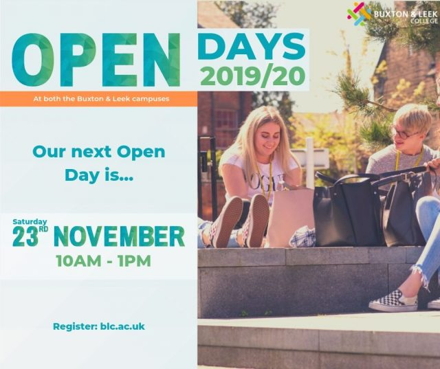 Open Days 2019/2020. Our next open day is on Saturday 23rd November 2019 from 10am until 1pm. Register now at blc.ac.uk